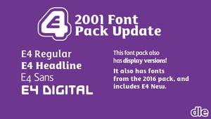 E4 2001 font pack (2017 update)