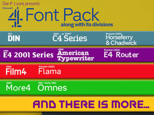 Channel 4 Font Pack