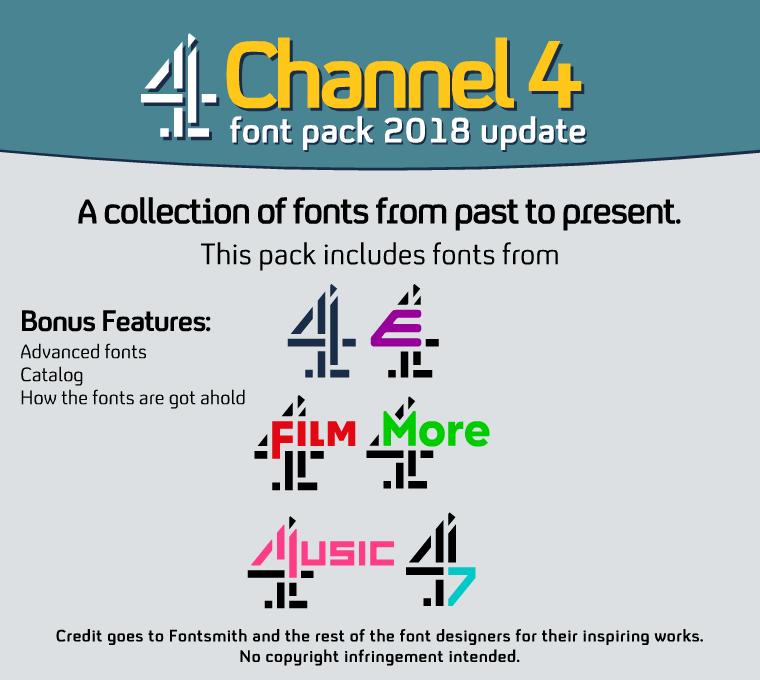 C4 Font Pack 2018 Update by DLEDeviant on DeviantArt