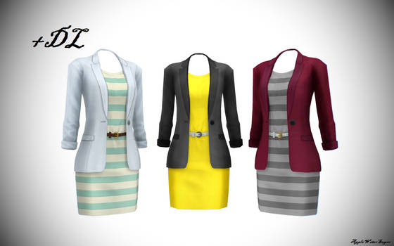 [MMD] Sims 4 Female Cloth (+DL, every color)