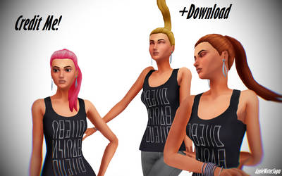 [MMD] Sims 4 Ponytail Ver.2 (+DL, UPDATED)