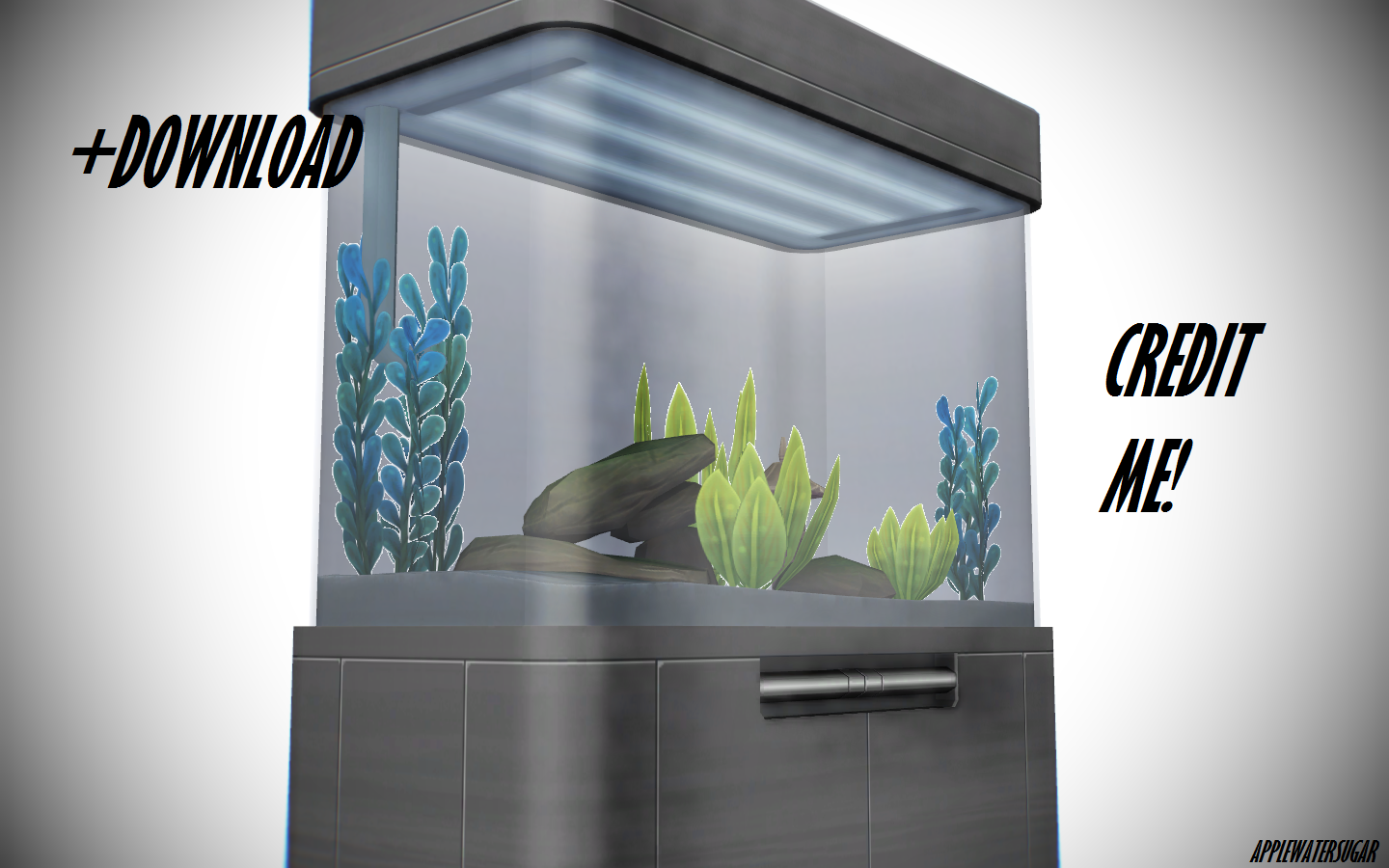 ... Sims 4 Aquarium Furniture (DL, Every Color) By AppleWaterSugar