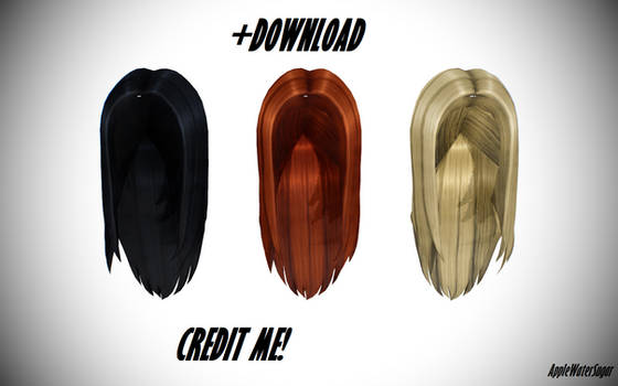 [MMD] Sims 4 Female Ironed Hair (+Download)