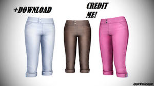 [MMD] Sims 4 Female Pants (+Download)