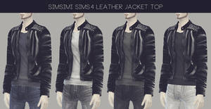 [MMD] Male Leather Jacket Top (+Download)