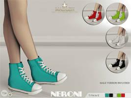 [MMD] Madlen Neroni Sneakers (DL,READ DESCP!) by AppleWaterSugar