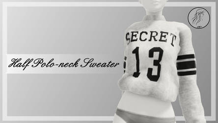 [MMD] Half Polo-neck Sweater (+DL)
