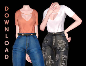 [MMD] Tucked in T-shirt w/ Milf Jeans (+DL)