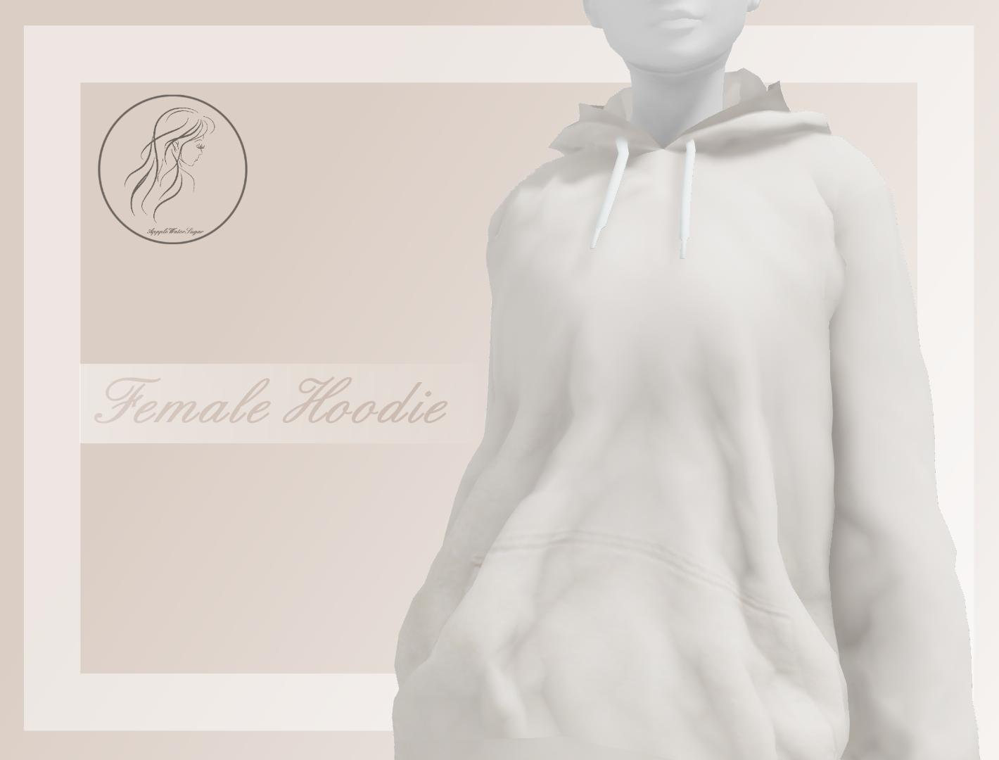 [MMD] Female Hoodie (+DL)