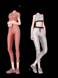 [MMD] Sportswear Outfits (+DL)