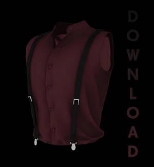 [MMD] Sleeveless Shirt w/ Suspender (+DL)