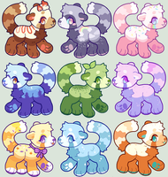 Flatsale Red Panda Adopts [ closed ] by eellie