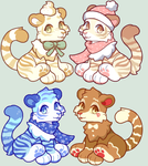 Christmas Tigers OTA [ closed ] by eellie