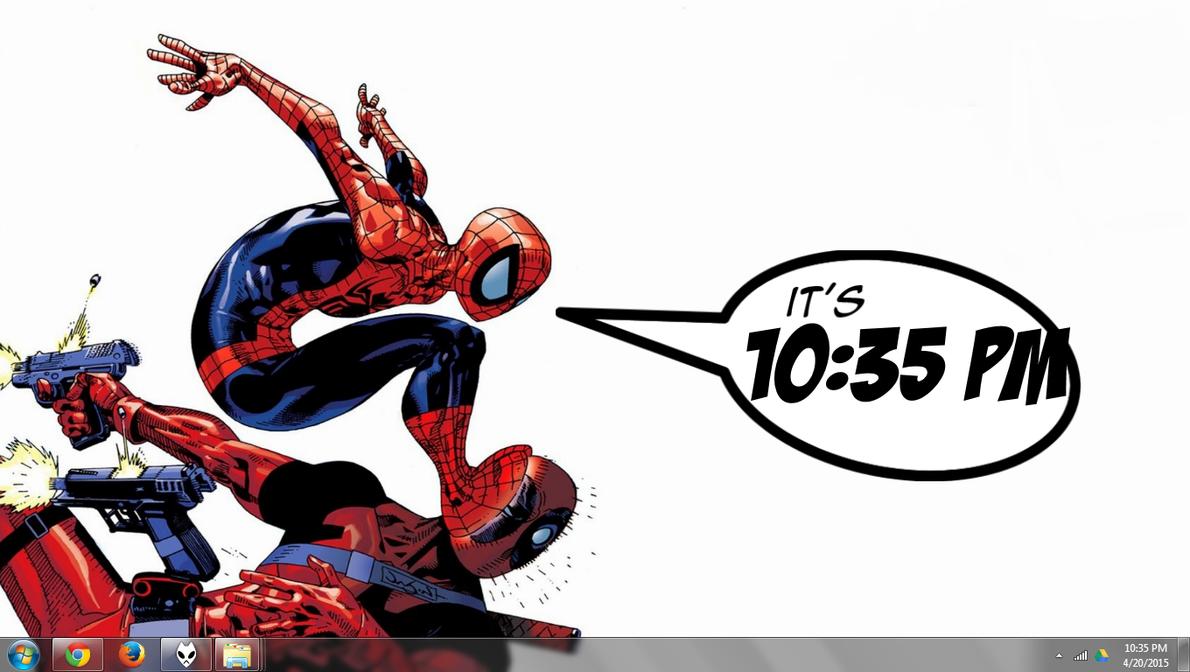 Comic Clock 1.00 Rainmeter by quadtrofang