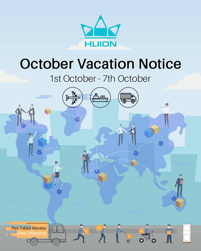 October Vacation Notice by huion on DeviantArt