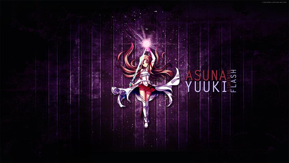 Asuna: The Lightning Flash - Wallpaper by thaismilk