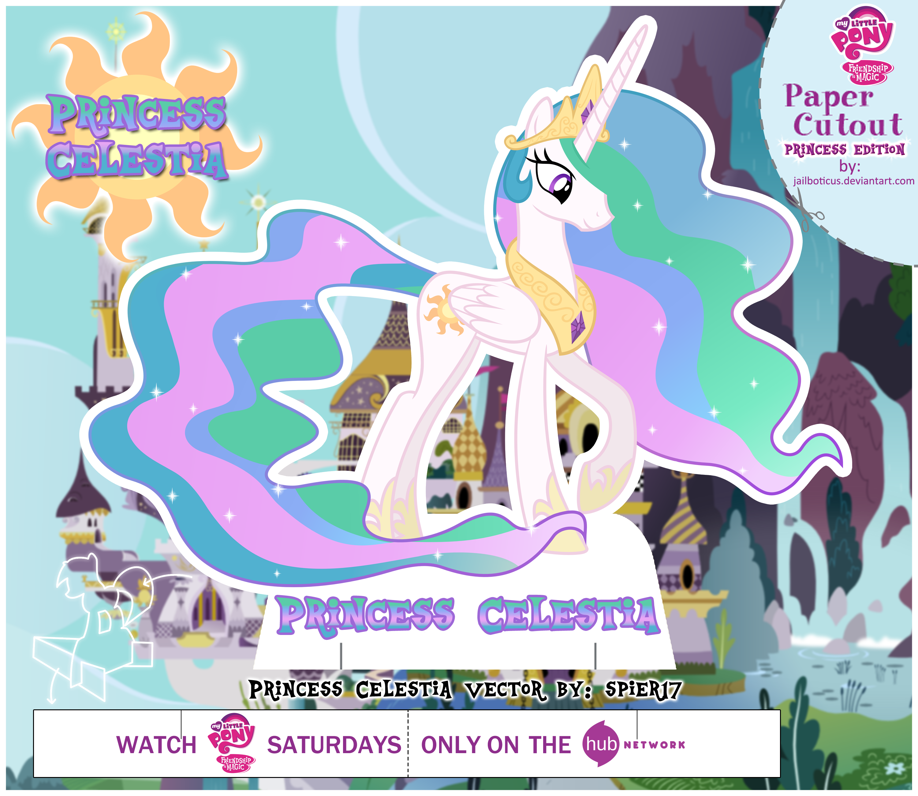 MLP Cut Out Princess Celestia By Jailboticus On DeviantArt
