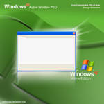 Windows XP psd Active Window