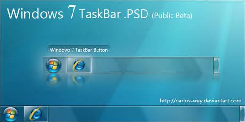 Windows 7 Taskbar .psd