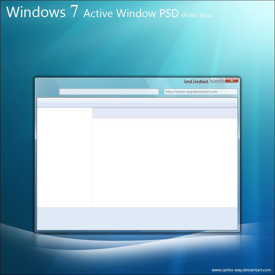 Windows 7 Window PSD