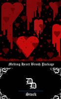 Melting Heart Brushes by NoxieStock