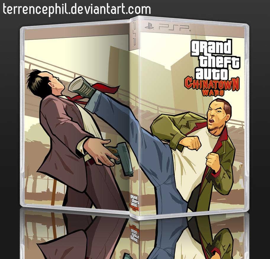 GTA Chinatown Wars PSP Box Art by terrencephil