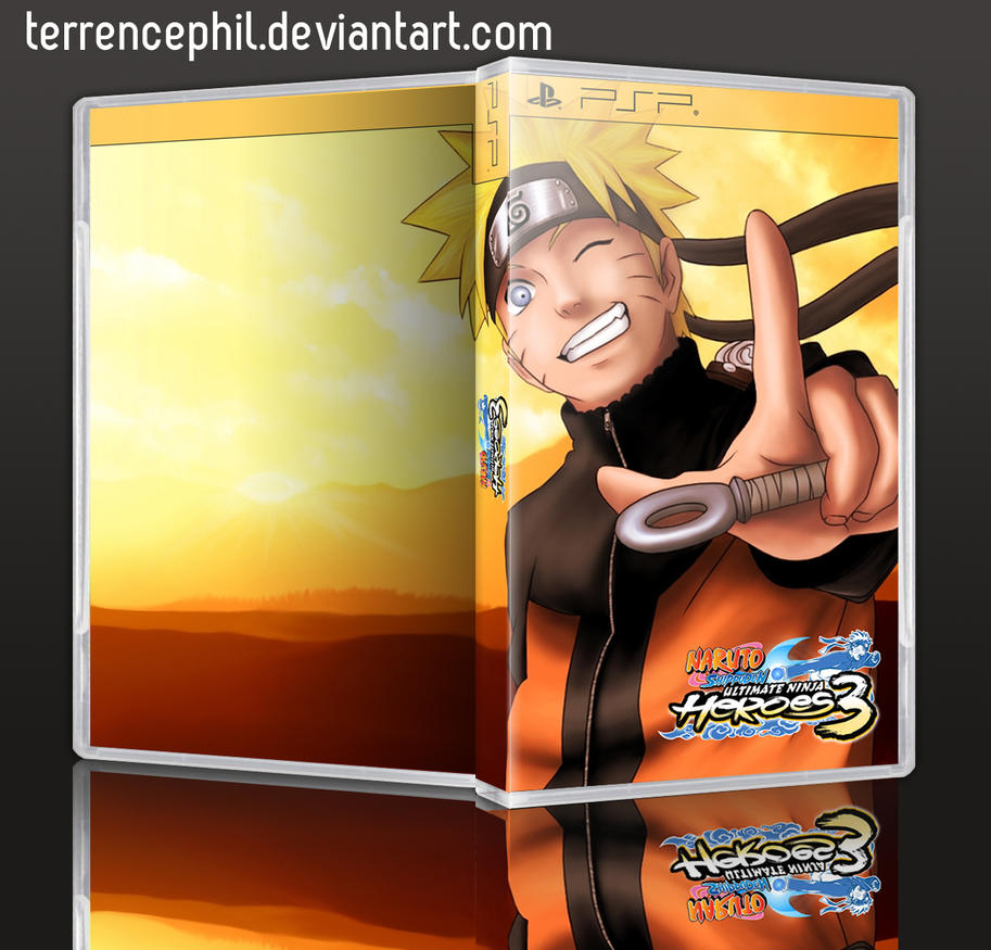 Naruto Shippuden Ultimate Ninja Heroes 3 Box Art by terrencephil