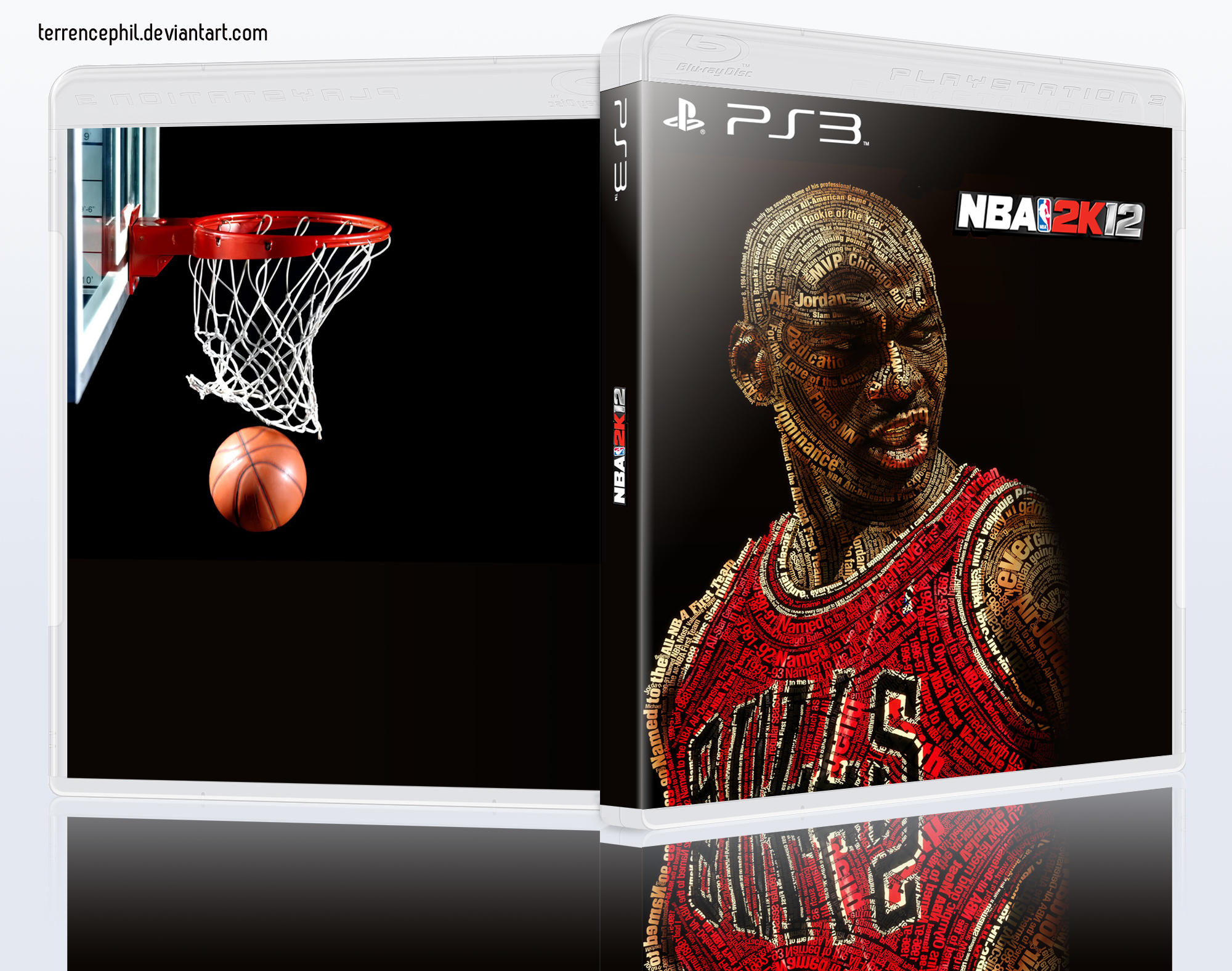 NBA 2K12 PlayStation 3 Box Art by terrencephil