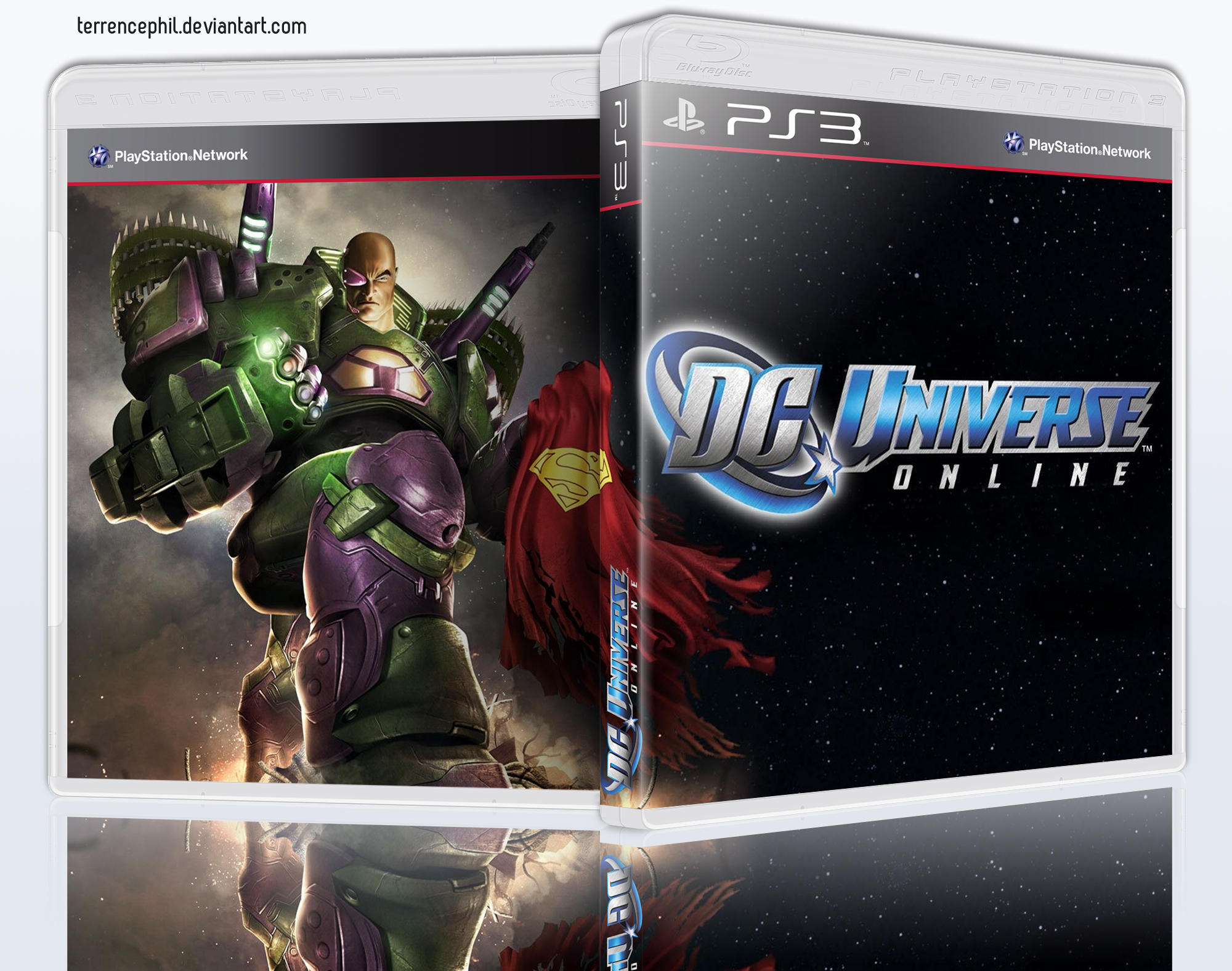 DC Universe PlayStation 3 Box Art by terrencephil