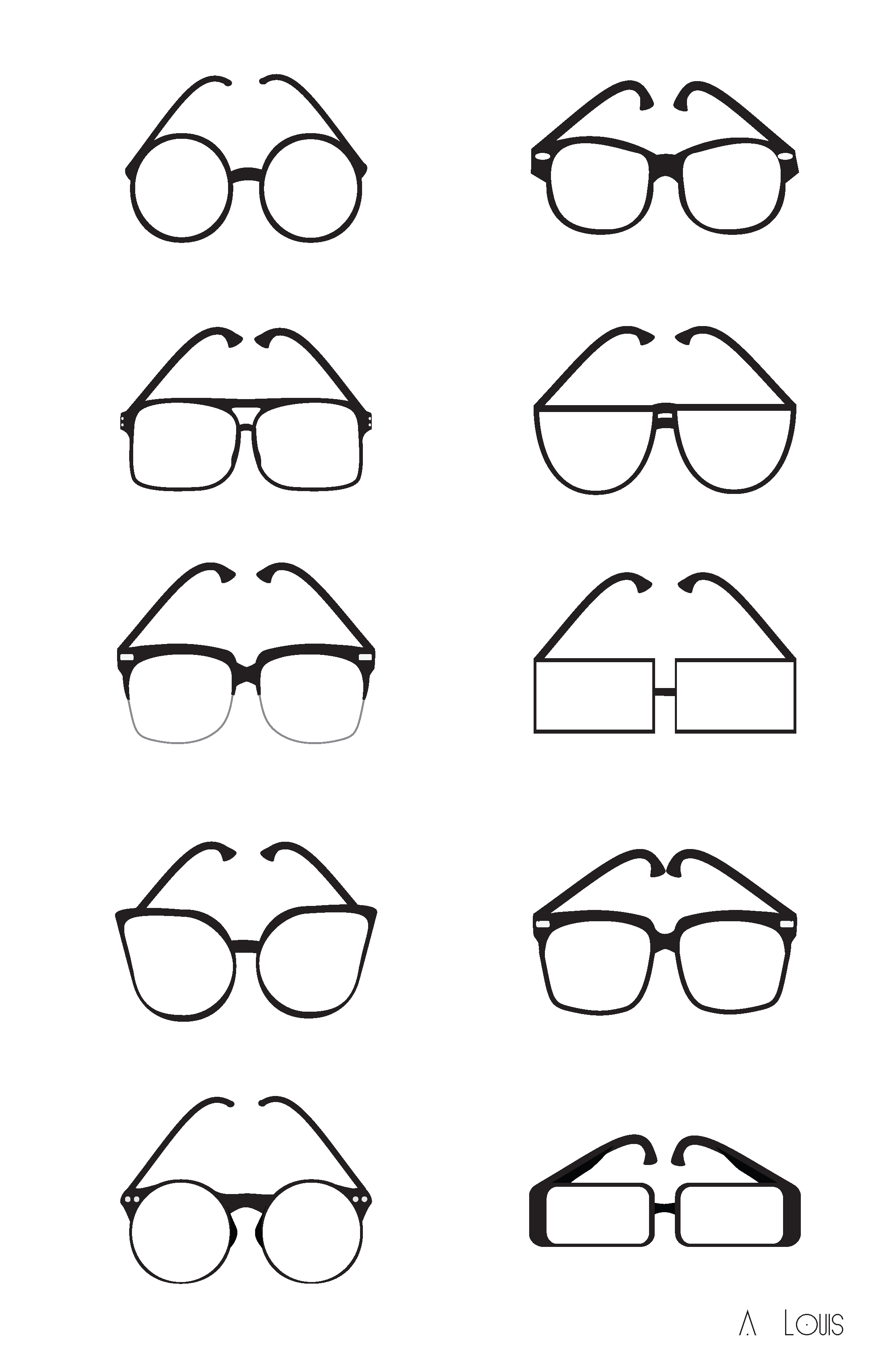 Glasses Hipster Draw images