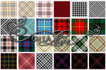 Tartan and houndstooth