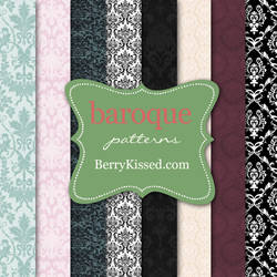 Baroque seamless background patterns
