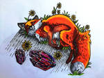 fox and cristals