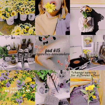 .psd coloring #15 aesthetic| yellow passion