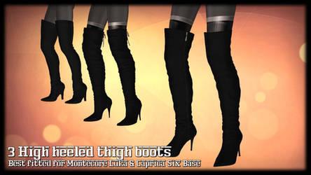 [MMD] 3 High heeled thigh boots (Montecore + C6)