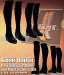 [MMD PMX] Knee-high boots DL (Montecore + C6) by Riveda1972