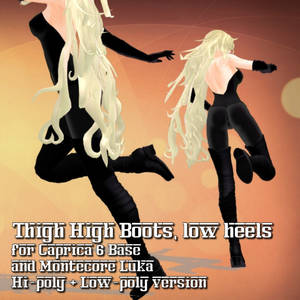 [MMD] Thigh Boots for Caprica 6 / Montecore Luka