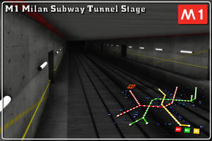 [MMD] M1 Subway tunnel stage Download (Ver. 1.1)