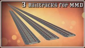 [MMD] Straight RailTracks - DOWNLOAD