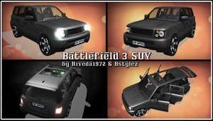 [MMD] BF3 SUV for MMD (PMX Download)