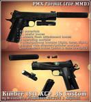 [MMD] Kimber 1911 ACP .45 (pmx Download)