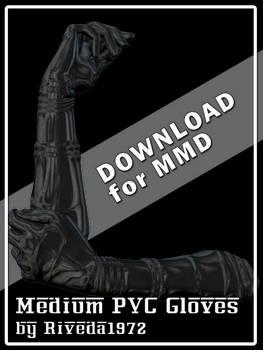 [MMD] Medium PVC gloves (PMX Download)