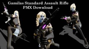 [MMD] Gamilas Standard Assault Rifle DL (beta)