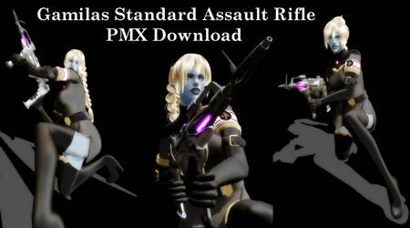 [MMD] Gamilas Standard Assault Rifle DL (beta) by Riveda1972