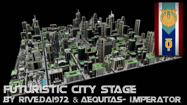 [MMD] Futuristic City stage Download