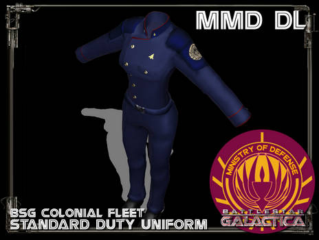 [MMD] Colonial fleet Duty Uniform FEMALE DL