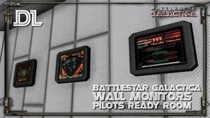[MMD] BSG Wall monitors DL (Pilot ready room)