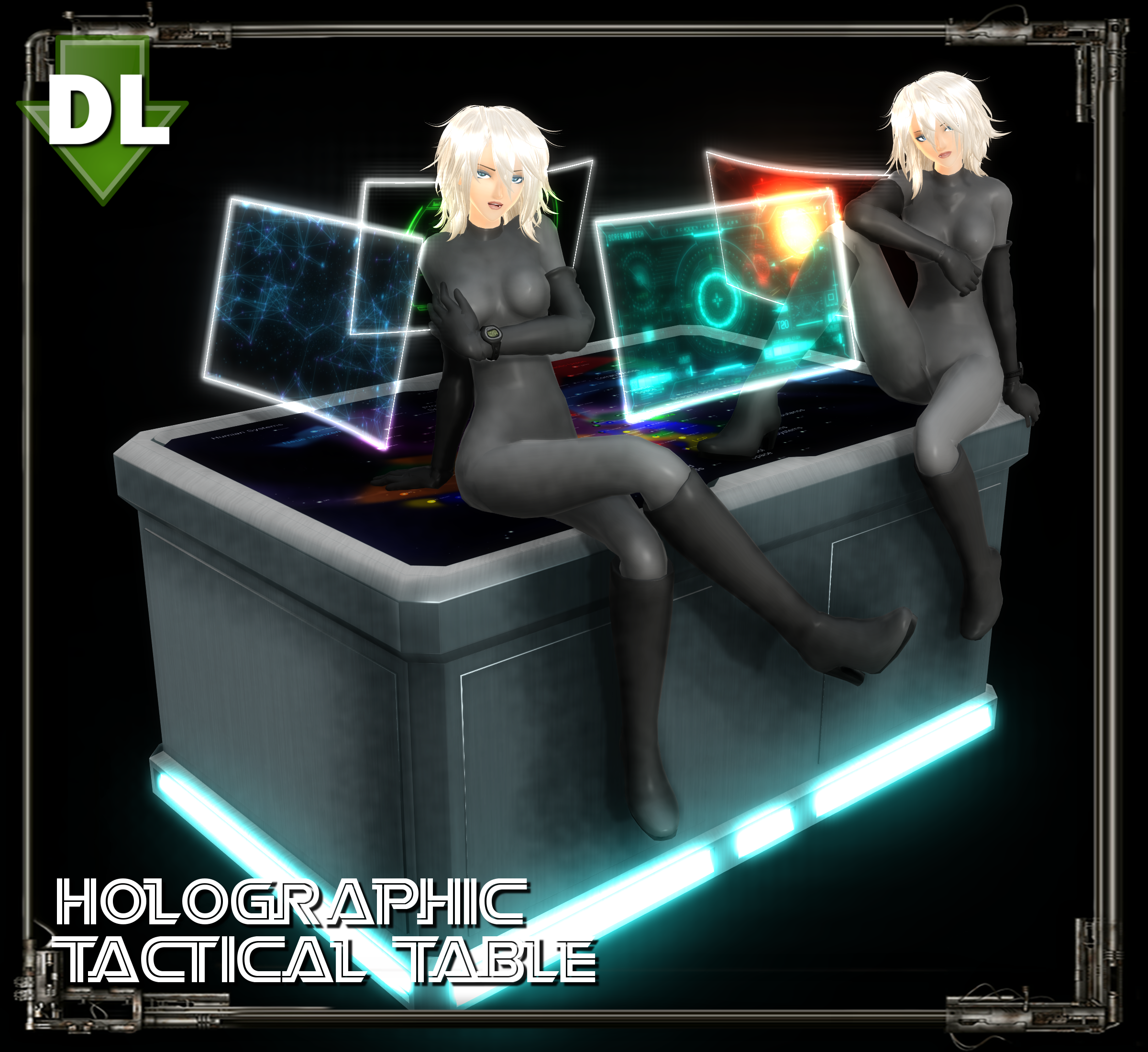 Ikea Stampe Da Muro mmd] holo-tactical table dl (pmx + obj) by riveda1972 on