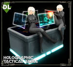[MMD] Holo-Tactical Table DL (PMX + OBJ)