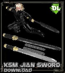 [MMD/OBJ] KSM Jian Sword DOWNLOAD by Riveda1972